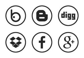 Social Media | Circle Flat