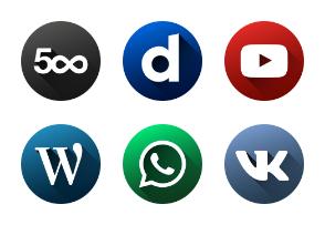 Social Media | Circle Long Shadow