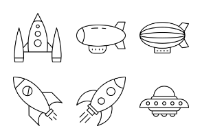 Space And Aircrafts set 2