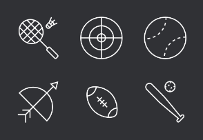 Sport Thinline Icons Set
