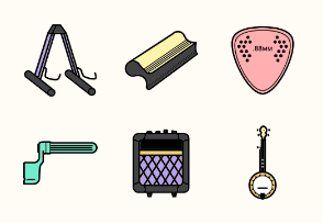 String Instruments & Accessories - filled outline version