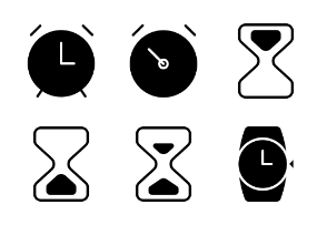 Time and Clock Glyph