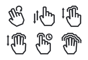 Touch Gestures - Outline