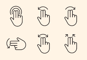 Touch Hand Gestures