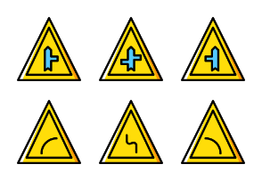 Traffic Signs - Yellow