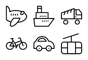 Transportation Line Icons 1