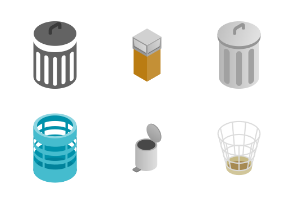Trash can - isometric