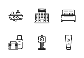 Travel Outline Iconset