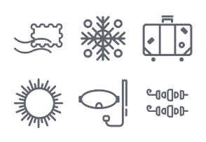 Travelling icon set, IInd part