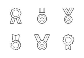Trophy&Award Badges Outline Stroke