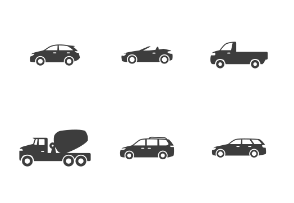 Types of Cars - Glyph