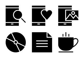 Universal Mobile Solid Icons Vol 9