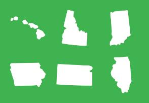 US states maps