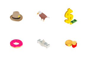 Usa - isometric