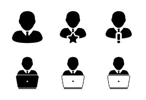 Business Man & Finance User Person Profile Human Avatars