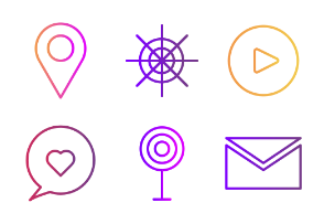 Gradient Basic icons