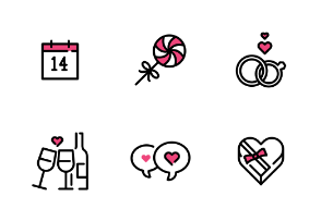 Valentine Day / Love icon set