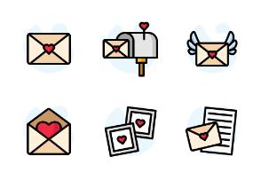 Valentine Envelope - Color