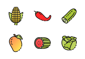 Vegetables and Fruits in color