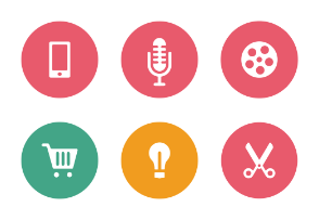 Web and Mobile Colored Icons Vol 1