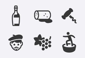 Wine and Vineyard icons