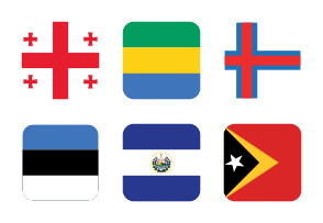 World Flags Half Rounded Vol 1