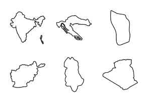 Country Maps Outline