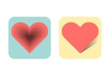 Flat Valentine's Day Hearts